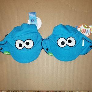 2 Coppertone sunscreen hats sesame street UPF 50+